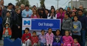 Lety Salazar sigue entregando importantes obras en diversas colonias de Matamoros.
