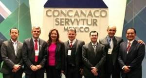Dirigentes empresariales de Tamaulipas presentes en la Asamblea de la Concanaco.