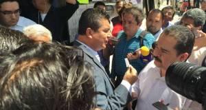 Francisco Chavira sostuvo un enfrentamiento verbal con el secretario ejecutivo del IETAM, Juan Ortíz Esparza.