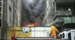 El incendio consumió seis cuartos en una vecindad en el centro de ciudad Madero.