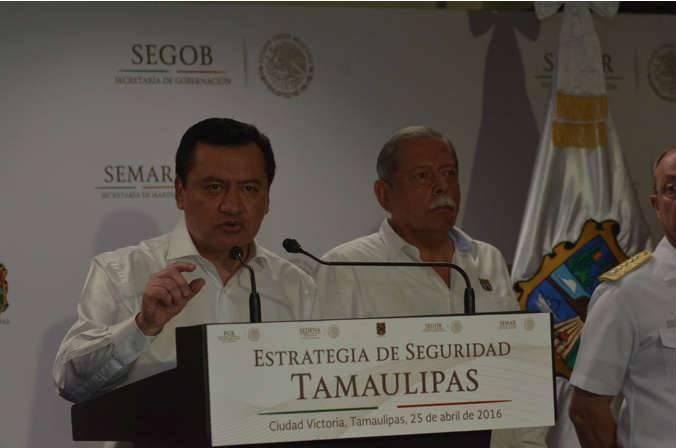 Miguel Angel Osorio Chong, presidió en esta capital la reunión del Gabinete Nacional de Seguridad.