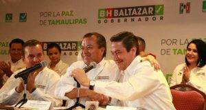 Baltazar Hinojosa candidato a la gubernatura de Tamaulipas.
