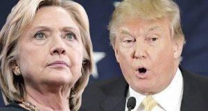 Donald Trump apareció con una desventaja de 12 puntosfrente a Hillary Clinton.