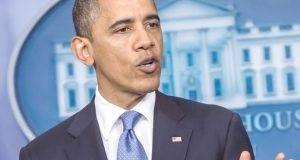 President Obama Makes Statement On Hurricane Sandy At White House