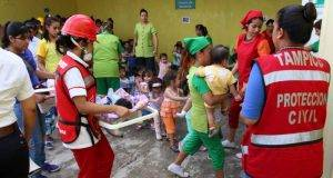La Dirección de Protección civil en el municipio, continúarealizando simulacros en escuelas.