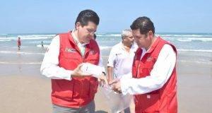 La Coepris realiza el monitoreo de las playas para detectar la presencia de 'marea roja'.