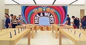 En Vía Santa Fe se estrenará mañana a las 11:00 horas la nueva Apple Store en México. Fotos: Aura Hernández