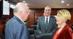 La secretaria de Salud de Tamaulipas, Lydia Madero García en su encuentro con José Narro Robles.