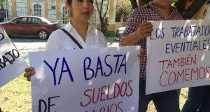 La Secretaría de Salud insiste en que no es posible asignar todas las plazas de base a los trabajadores.