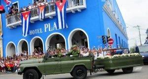 La Caravana de la Libertad con las cenizas del líder histórico de la Revolución cubana sigue su camino.