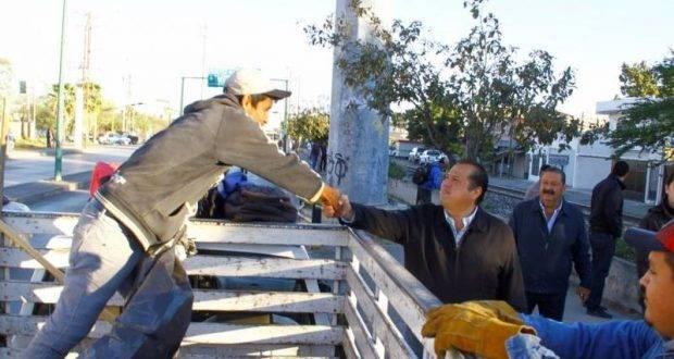 Oscar Almaraz Smer, dentro un recorrido de supervisión del estado que guardan los servicios públicos.