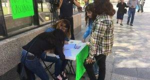 Los universitarios piden el apoyo de los victorenses.