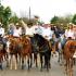 La alcaldesa Alma Laura Amparán Cruz encabezó los festejos del 83 aniversario de la fundación del ejido Santa Juana.