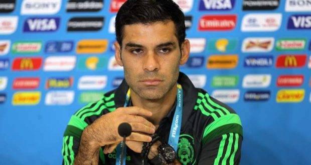 40612036. Natal, Brasil.- El jugador Rafael Márquez durante la conferencia de prensa que ofreció antes del entrenamiento de la selección mexicana, previo a su debut en la Copa del Mundo Brasil 2014, ante su similar de Camerún, esta tarde en el estadio Arena das Dunas en Natal. NOTIMEX/FOTO/JORGE ARCIGA/JAA/SPO/MUNDIAL14